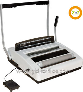 A4 Size Coil 4: 1 and Wire 3: 1 2-in-1 Binding Machine (CW2917) pictures & photos