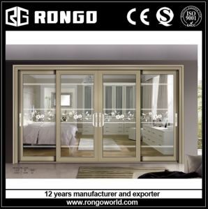 Aluminum 4 Panels Sliding Glass Doors