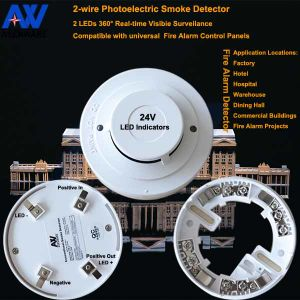 24V High-Sensitive Conventional Fire Smoke Detector with Competitive Price pictures & photos