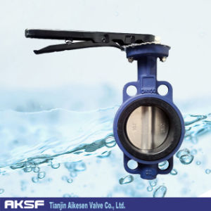 Wafer Type Cast Body Butterfly Valve pictures & photos