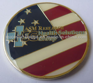 Soft Enamel Gold Plated Epoxy Hsg Coin pictures & photos