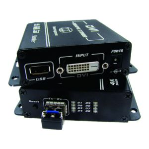 4k DVI Fiber Extender (single Fiber/single-Way) DVI Extender Over Fiber Max up to 10gbps Transmission pictures & photos
