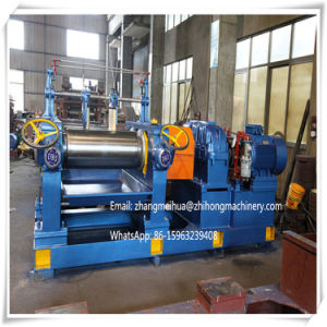 High Quality Open Two Roll Rubber Mixing Mill Xk400 with Hardened Tooth Surface Gear Reducer pictures & photos