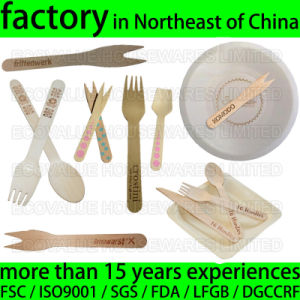 Biodegradable Disposable Wood Tableware Utensil Silverware Flatware Engraved Customized Logo pictures & photos