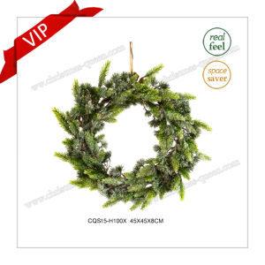 17′′ Plastic Products Home Decoration Gift Christmas Artificial Wreath pictures & photos