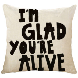 Individual Words Making Easy Letters Custom Logo Painting Polyester Cushion pictures & photos