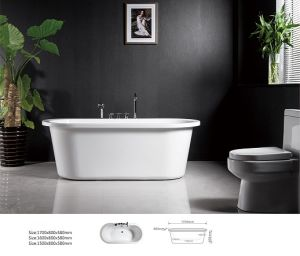 2014 Worldwide Popular Design Bathroom Ellipse Freestading Bathtub (BNG4010)