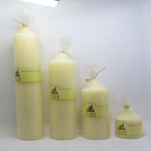 Colored Scented Wedding Decorative Pillar Wax Candle pictures & photos