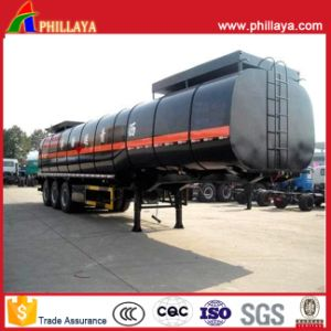 Bitumen Tanker Semi Truck Asphalt Heated Steel Tank Trailer pictures & photos