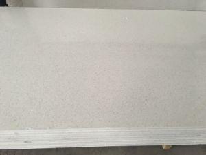 Pure White Man Made Stone Quartz Stone Slab for Kitchen and Bathroom
