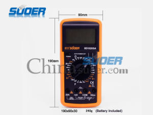 Best Suoer Digital Multimeter High Quality Digital Multimeter (SD-9205A) pictures & photos