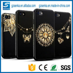 3D Gold Coated Glitter Crystal Shining Elegant TPU Case for iPhone 7 pictures & photos