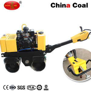 Zm-80 Double Drum Walk Behind Soil Vibratory Steel Roller pictures & photos