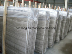 Chinese Grey Wooden Marble for Floor Tile Slab pictures & photos