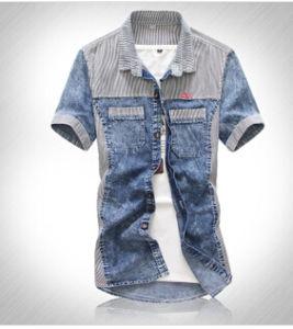 Embroidery New Summer Men′s Denim Shirt (L8693) .
