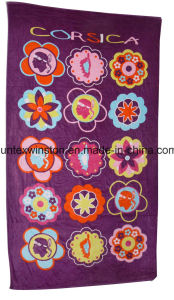 Cotton Reactive Printing Beach Towels Beautiful Design pictures & photos