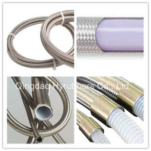 Hyrubbers Manufacturer Wholesale Steel Braided Teflon Hose with PTFE Tube pictures & photos
