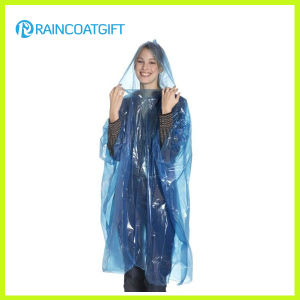 Cheap Disposable PE Raincoat Poncho Rbc-160 pictures & photos