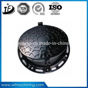 Painting Sand Casting/Iron Casting Manhole Cover Frame/Manhole pictures & photos