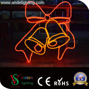 2D Iron LED Frame Rope Light Motif Light for Street Decorations pictures & photos