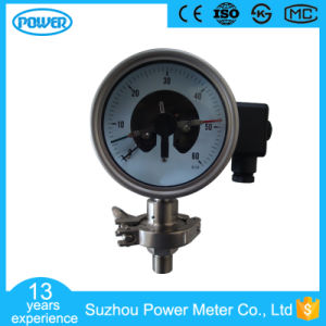 4′′100mm Electric Contact Sanitary Diaphragm Pressure Gauge with Flange pictures & photos