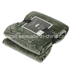 Plain Cobblestone Series Thickened Cashmere Flannel Blankets pictures & photos