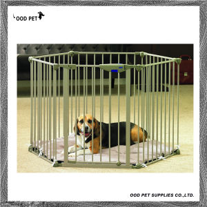 Six Dividers Play Pen with Door Pet Dog Cage pictures & photos
