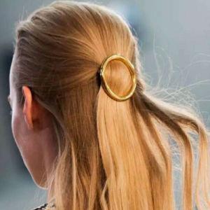 European & American Fashion Gold-Color Round Hair Clip Metal Hairpins pictures & photos