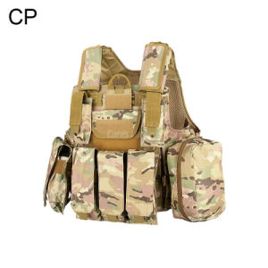 Military Tactical Combat Molle Camouflage Army Outdoor Sports Vest Cl4-0028 pictures & photos