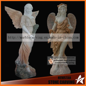 Beauty Maiden Archangel Stone Statues for Garden Ns024 pictures & photos