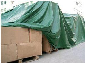Green Waterproof PVC Tarp for Cargo Covering