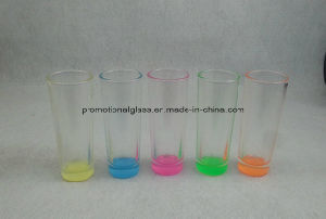 Sublimation Shooter Glass with Colored Bottom