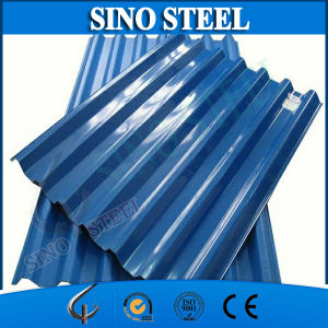 Blue Color Galvanized Corrugated Gi Roofing Sheet for Construction pictures & photos
