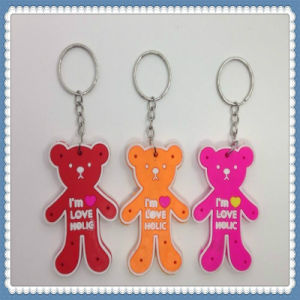 New Design PVC Cute Bear Key Chain