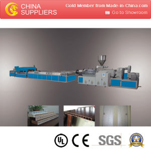 Wood Plastic Composite Outdoor Profiles Extruder Machine pictures & photos