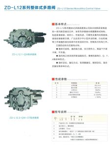 Manual Control Hydraulic Monoblock Selector Cartridge Spool Valve for Tractor pictures & photos