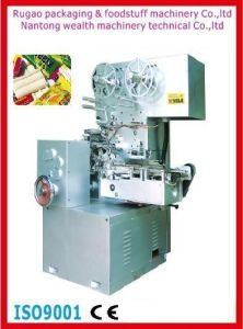 Qyb-350 Bubble Gum Cut and Fold Wrapping Machine pictures & photos