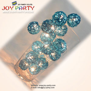 Turquoise 5cm Rattan Ball Home Decoration (Joy2-9950)