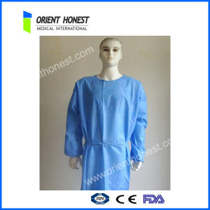 Sterile Non Woven Medical Disposable Gowns with Hook & Loop on Collar