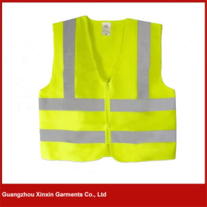 Guangzhou Cheap Price Fluorescent Green Hi Vis Safety Vest Supplier (W48) pictures & photos