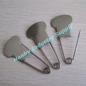 "Mushroom Head 2"" Stainless Steel Brooch Laundry Safety Pins"