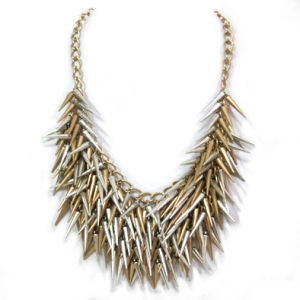 Fashion Jewelry Beaded Chunky Necklace, Made of Zinc-Alloy and Iron Metals, 50cm Long and 102gr/PC, Hnk-11678