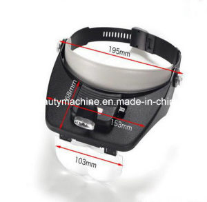 Headband Helmet Magnifier Glasses Loupe  with 2 LED Lights pictures & photos