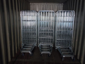 Supermarket Heavy Duty Foldable Nestable Storage Roll Cage pictures & photos
