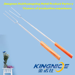 Hot Sale Premium Marshmallow Sticks Smores Skewers Hot Dog Fork Rotating BBQ Telescoping Sticks pictures & photos