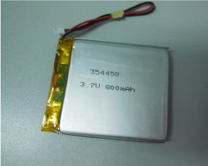 354450 800mAh Li-Polymer Battery 3.7V Lipo Battery pictures & photos