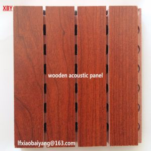 Acoustic Wooden Panel Sound Absorption Wall Panel pictures & photos