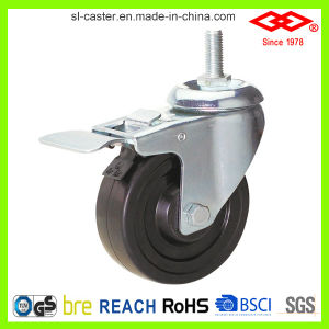 125mm Swivel Screw Locking Hard Rubber Caster (L102-53B125X32S) pictures & photos