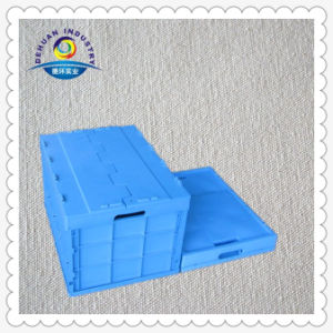 Plastic Turnover Tote Box with Lids pictures & photos