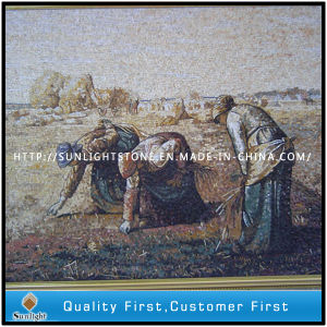 Mixed Marble Stone Mosaic Painting Mural for Hotel Wall Decor pictures & photos